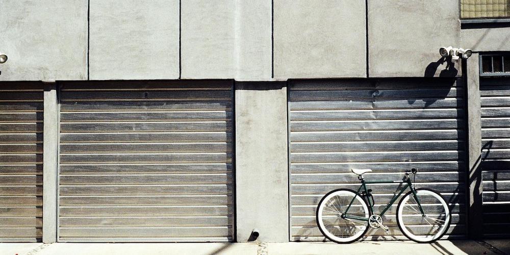garage door and bike
