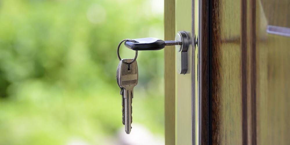 north melbourne door with key