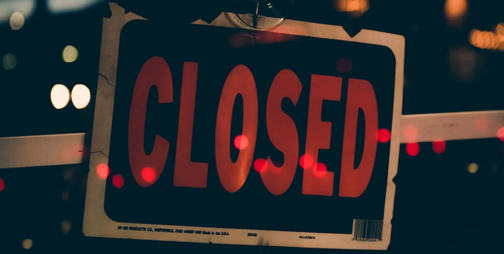 secure your business, closed signage